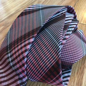New Ben Sherman Plaid Handmade Silk Tie